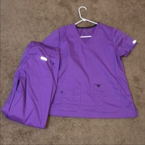 NWOT Purple Med Couture Scrubs size L